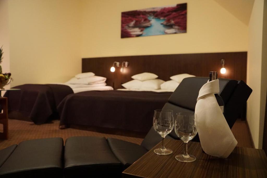 Łóżko lub łóżka w pokoju w obiekcie Yuca
