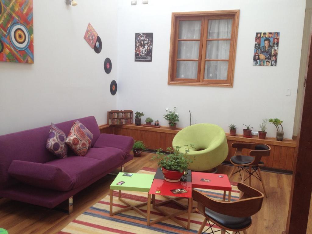 Zona de estar de Hotel Ecomusic