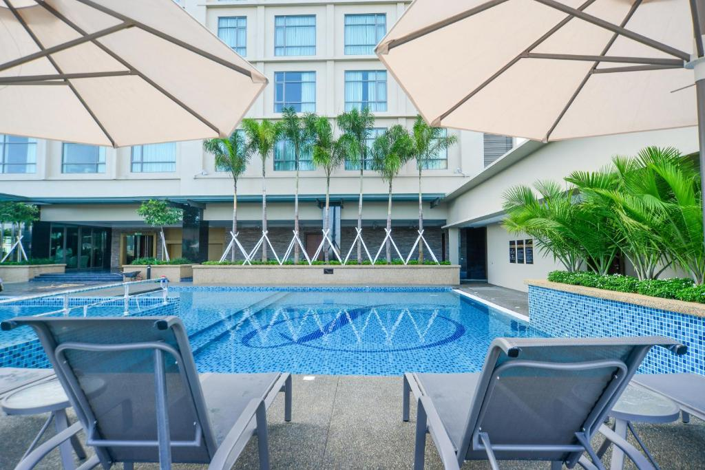 The swimming pool at or near The Light Hotel Penang