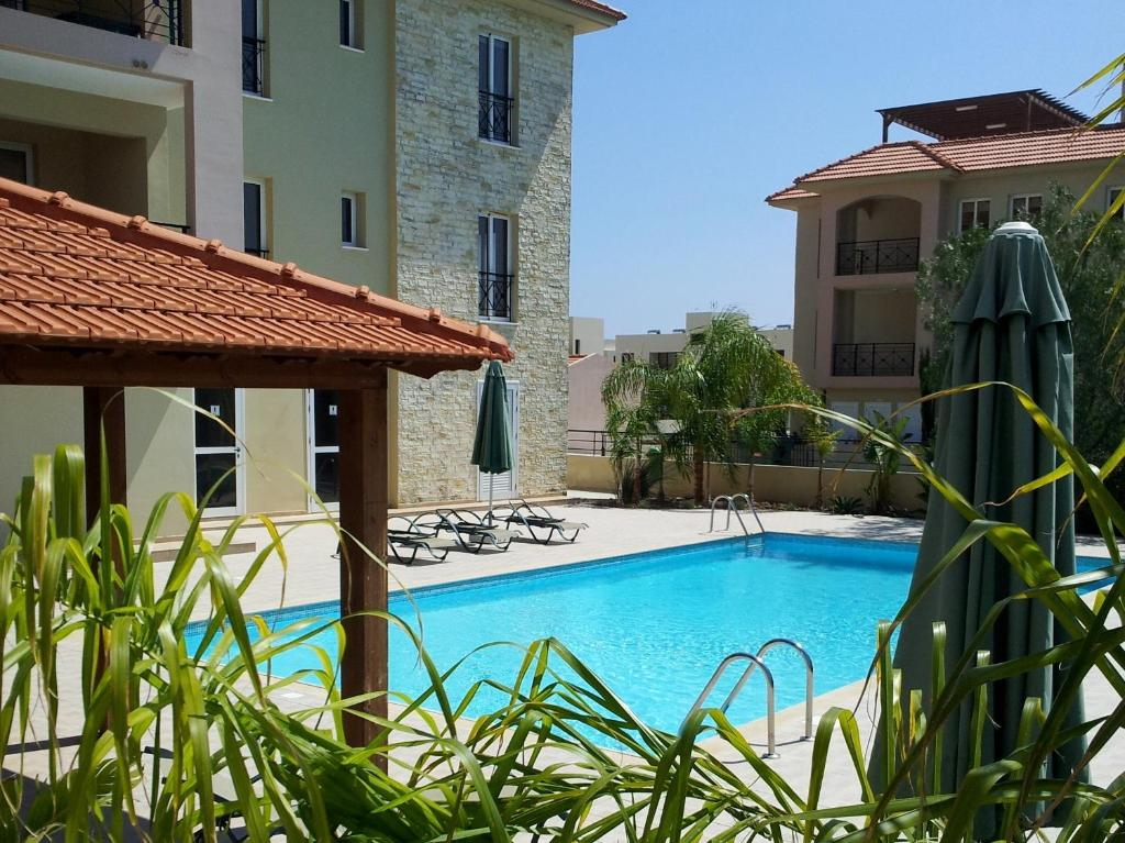 The swimming pool at or close to Mazotos Panoramic Village