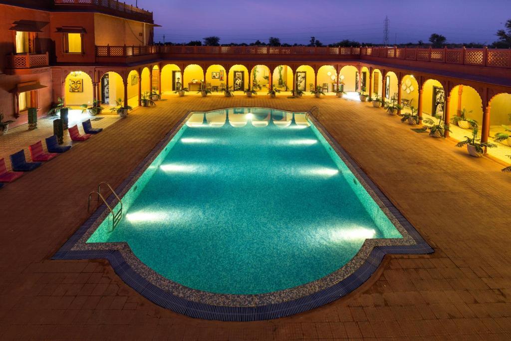 The swimming pool at or close to Vesta Bikaner Palace