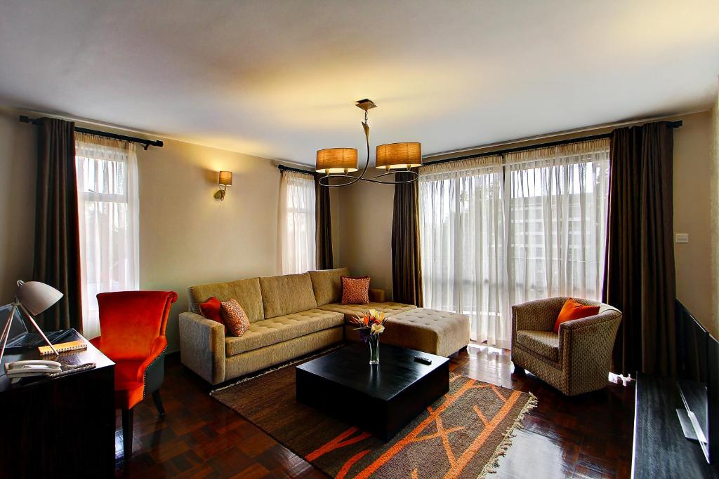 A seating area at Nelson's Court Serviced Apartments