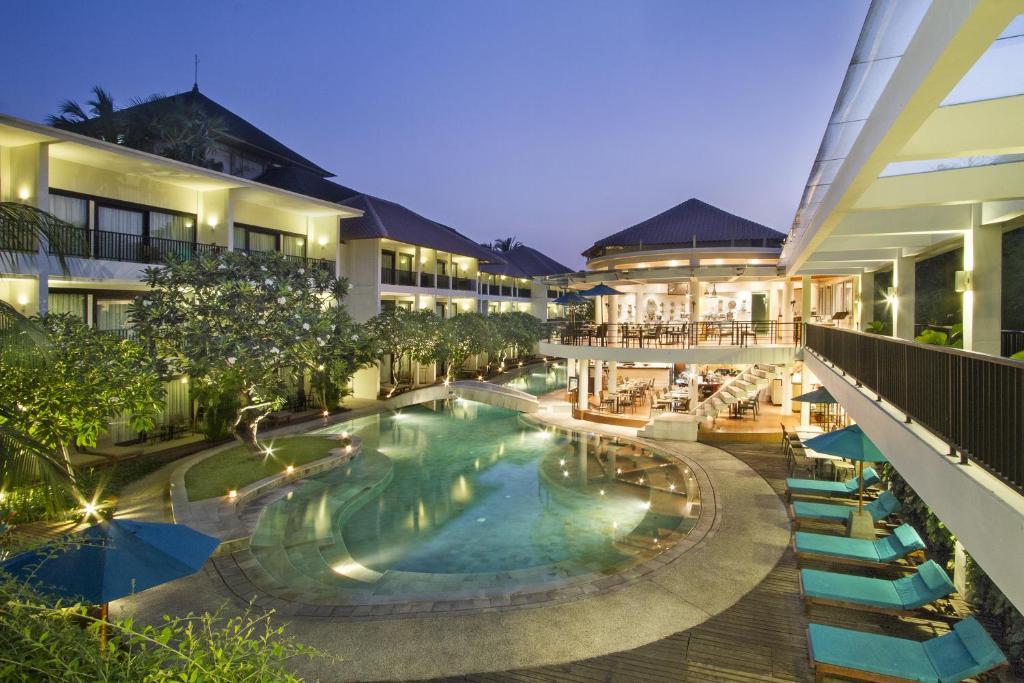 The swimming pool at or near Away Bali Legian Camakila Resort