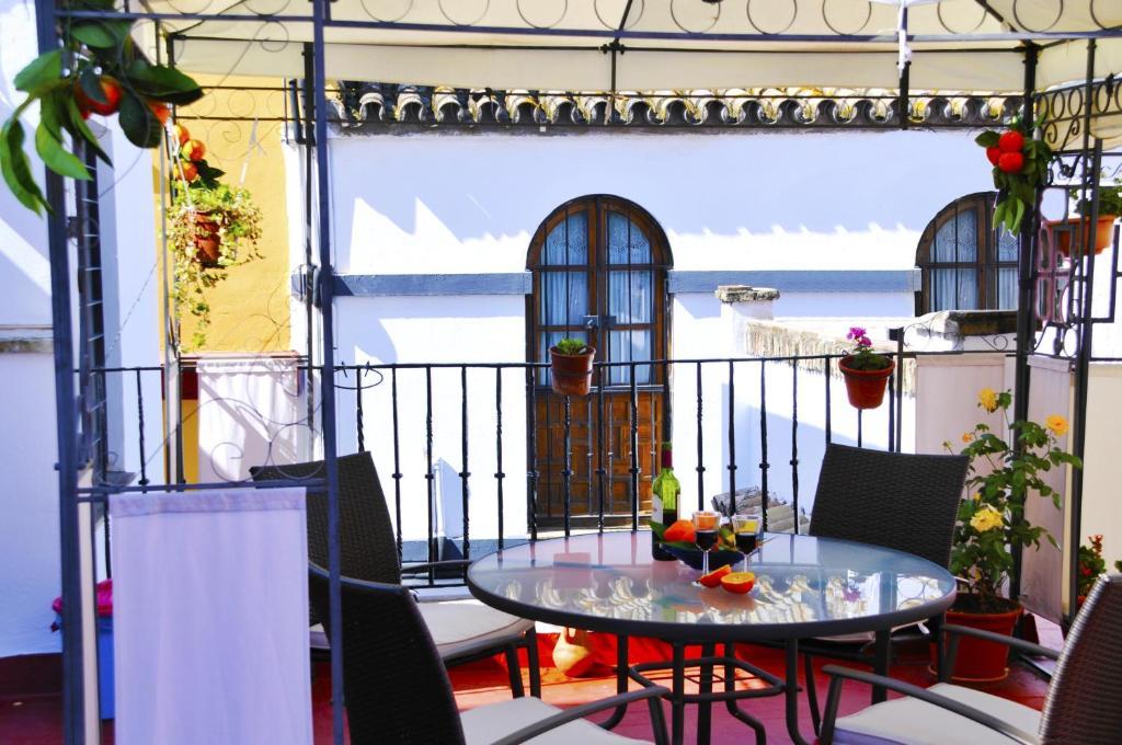 Ein Balkon oder eine Terrasse in der Unterkunft Pensión La Montoreña