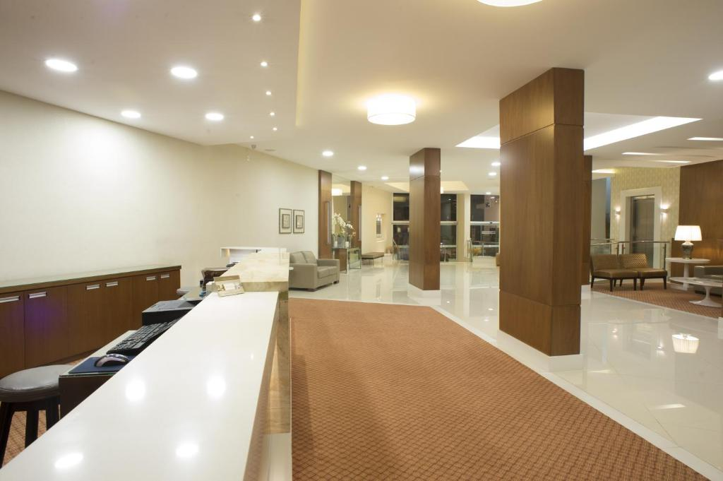 The lobby or reception area at Casablanca Center Hotel