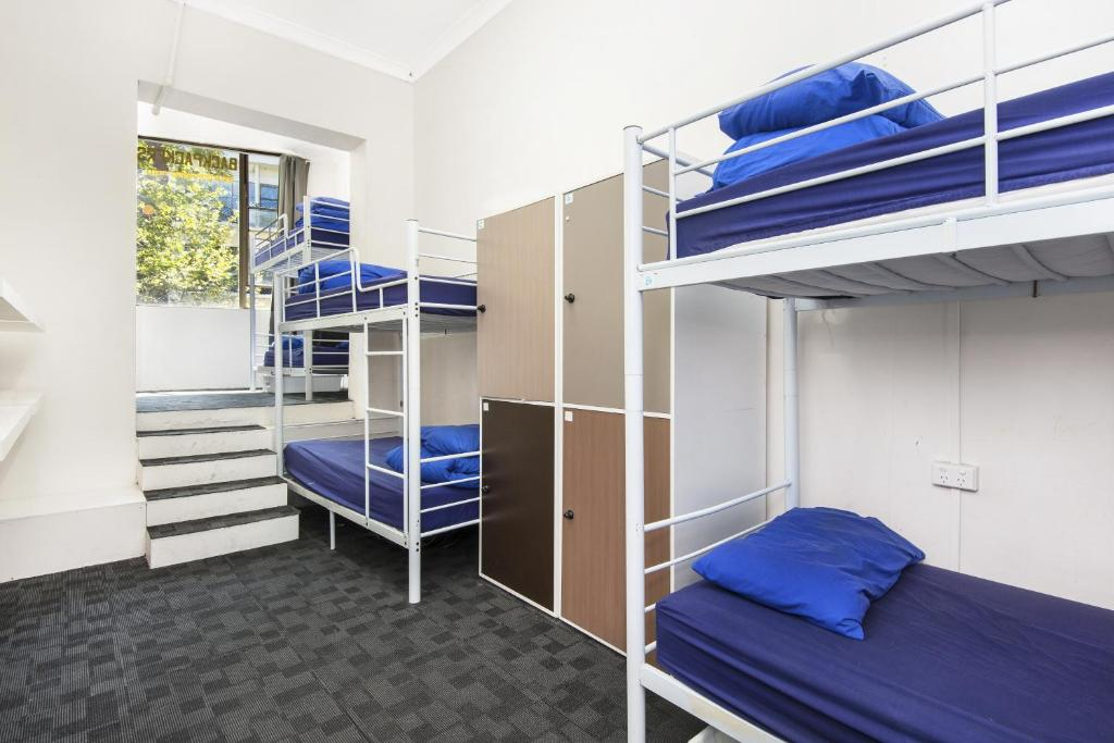 A bunk bed or bunk beds in a room at Hump Backpackers