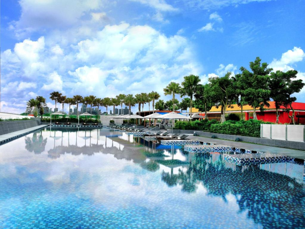 The swimming pool at or near One Farrer Hotel (SG Clean, Staycation Approved)