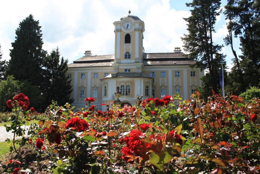 A garden outside Schlosshotel Rosenau Superior