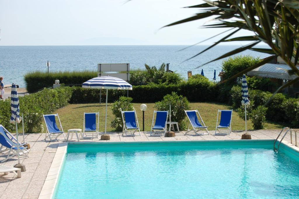 The swimming pool at or near Albergo Romana
