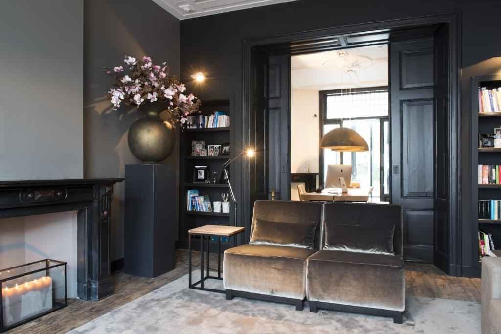 The lounge or bar area at Boutique Hotel Straelman