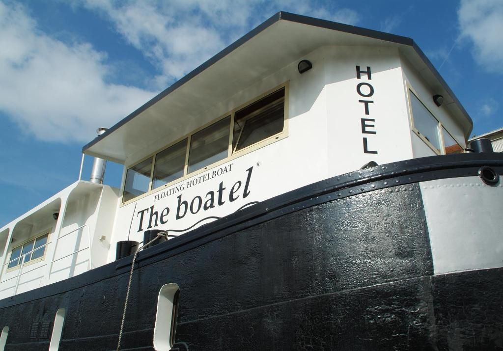 The logo or sign for the boat