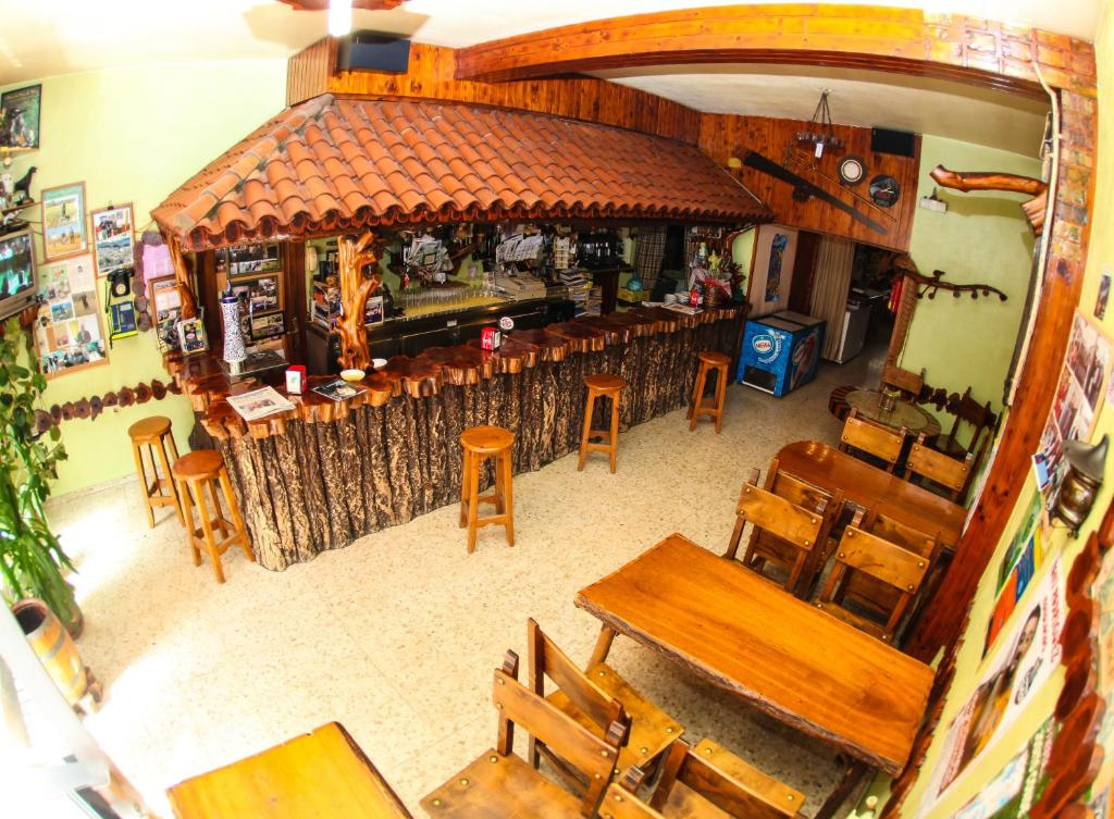 A restaurant or other place to eat at El Molino