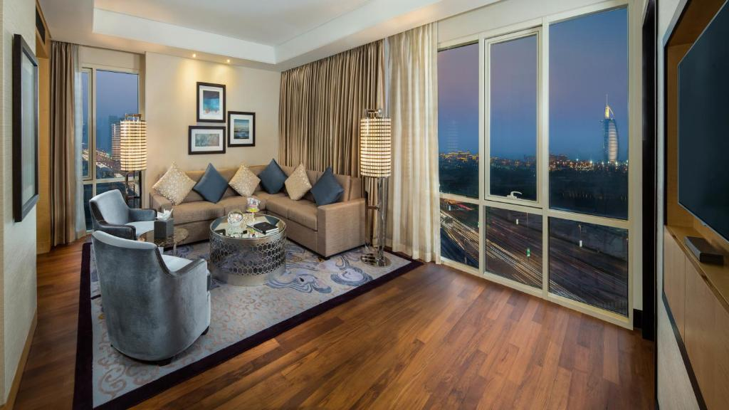 A room at the Kempinski Hotel Mall of the Emirates.