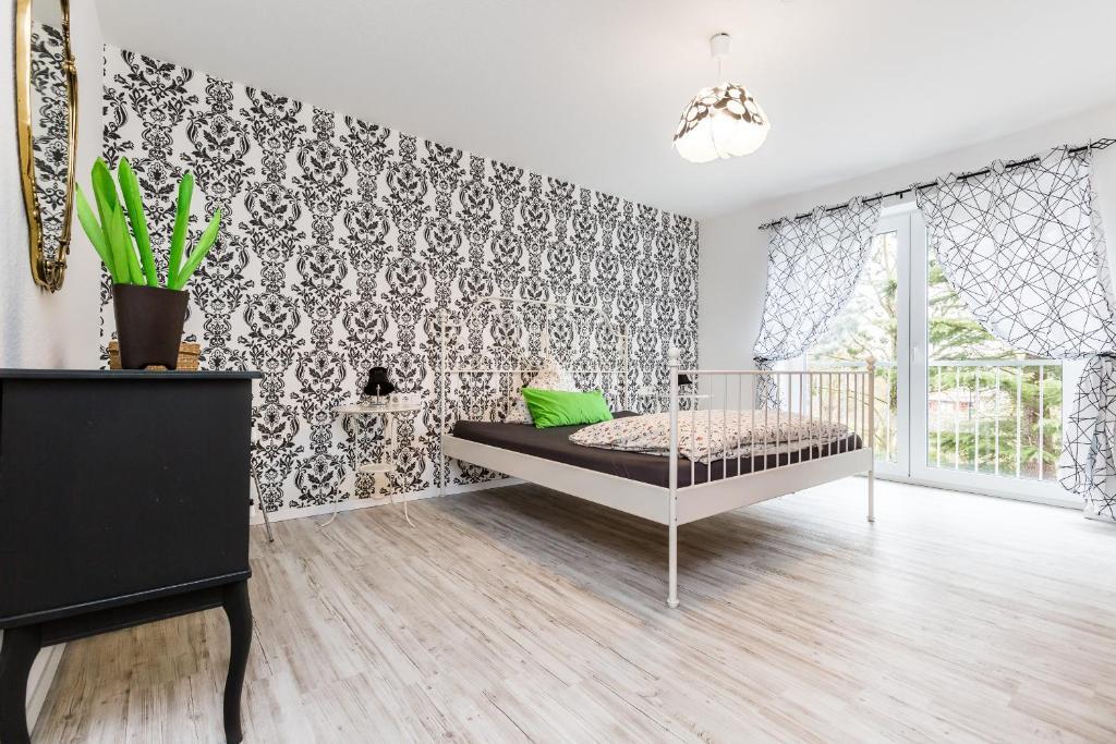 Ein Sitzbereich in der Unterkunft Apartment Köln Rath