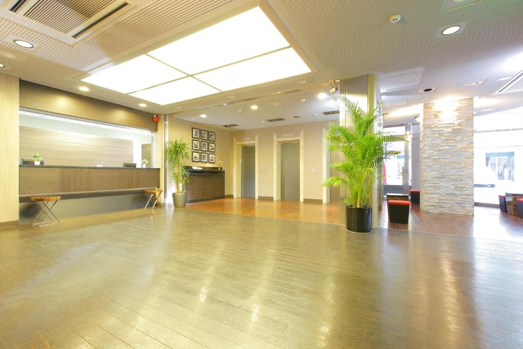 The lobby or reception area at HOTEL MYSTAYS Kameido