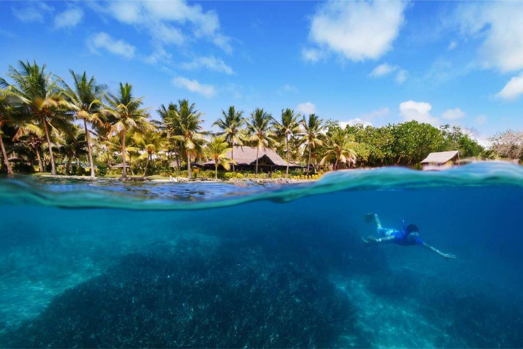 A bird's-eye view of Aore Island Resort