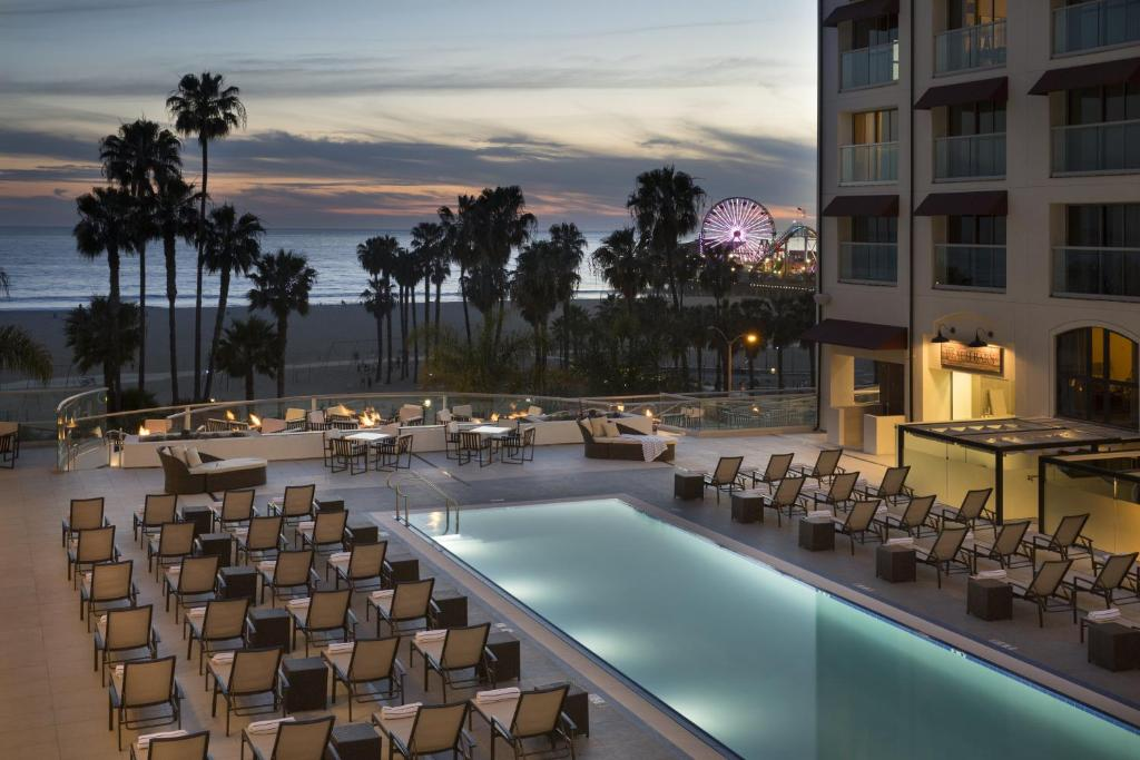 The swimming pool at or near Loews Santa Monica Beach Hotel