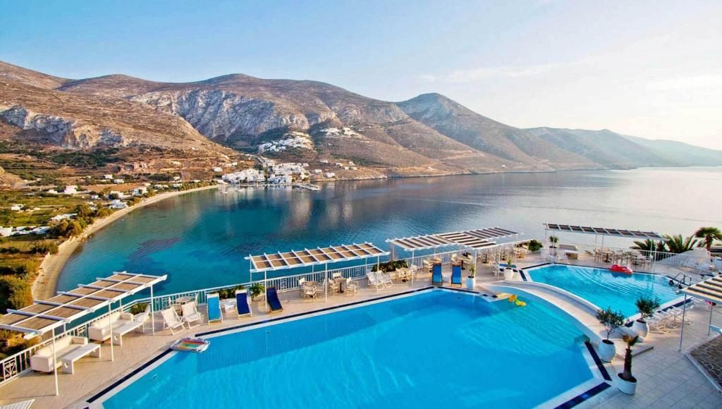 A view of the pool at Aegialis Hotel & Spa or nearby