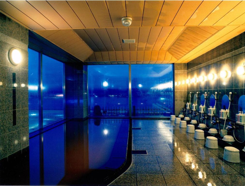 The swimming pool at or near Route Inn Grantia Hakodate Ekimae