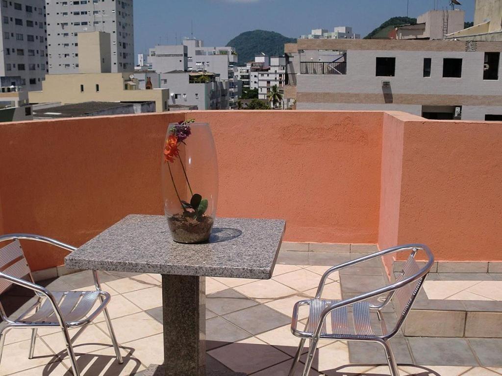 A balcony or terrace at Astúrias Praia Hotel