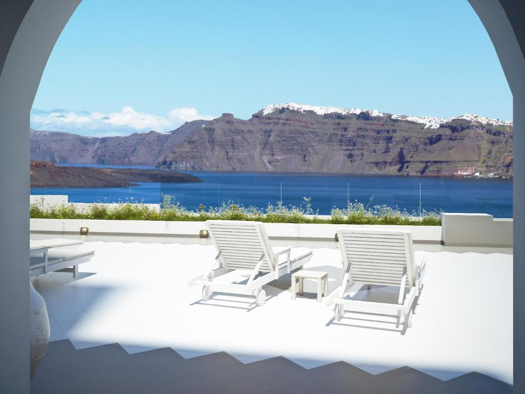 A balcony or terrace at Acrothea Suites and Villas