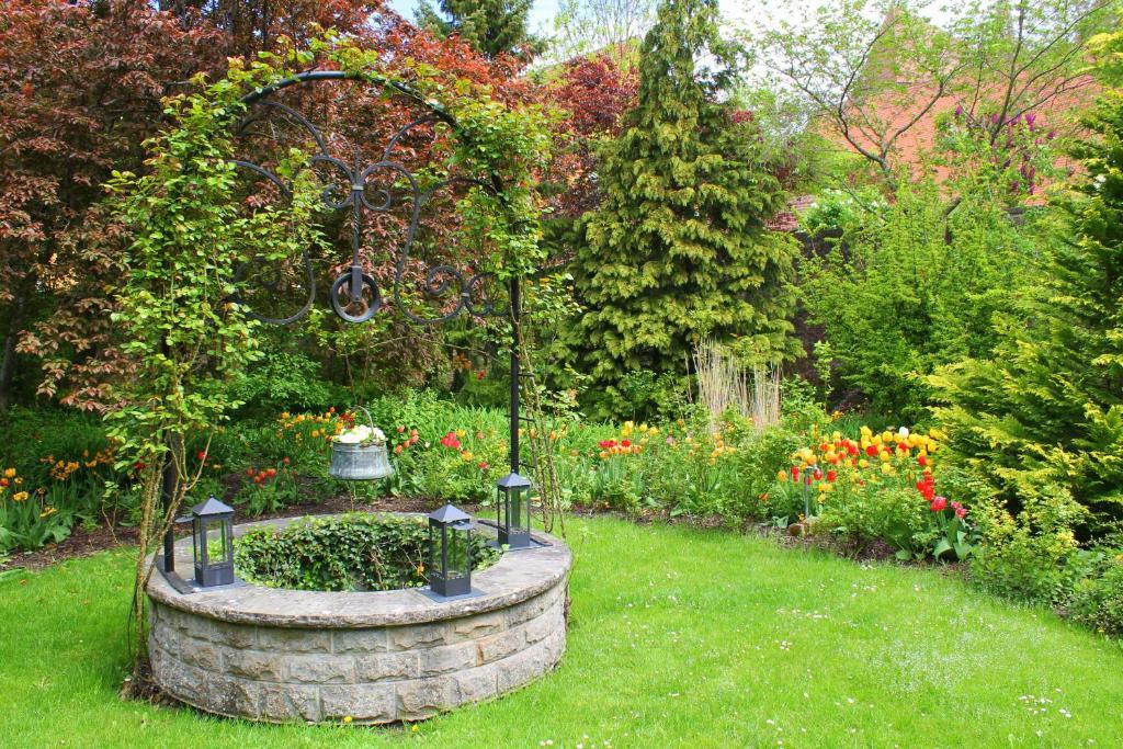 A garden outside Hotel BurgGartenpalais