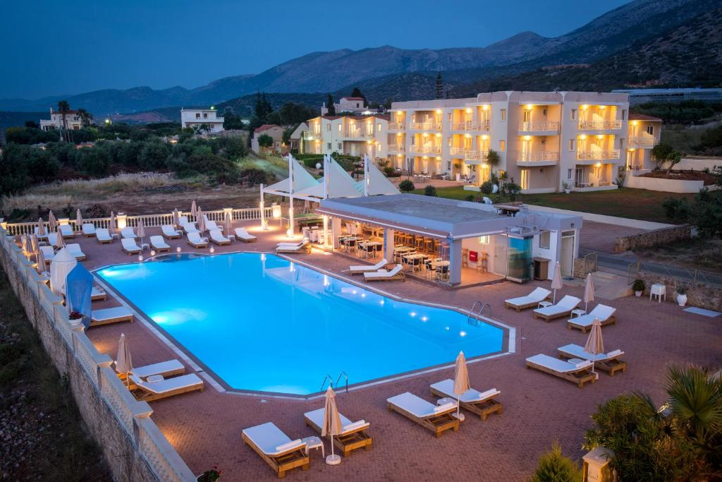 A view of the pool at Notos Heights Hotel & Suites or nearby