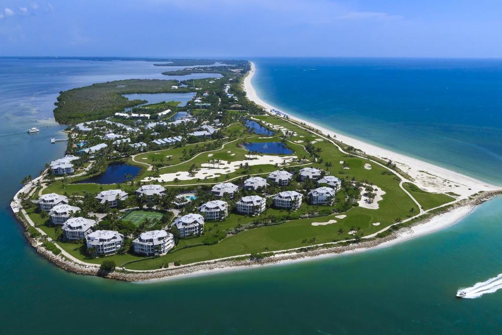 A bird's-eye view of South Seas Island Resort