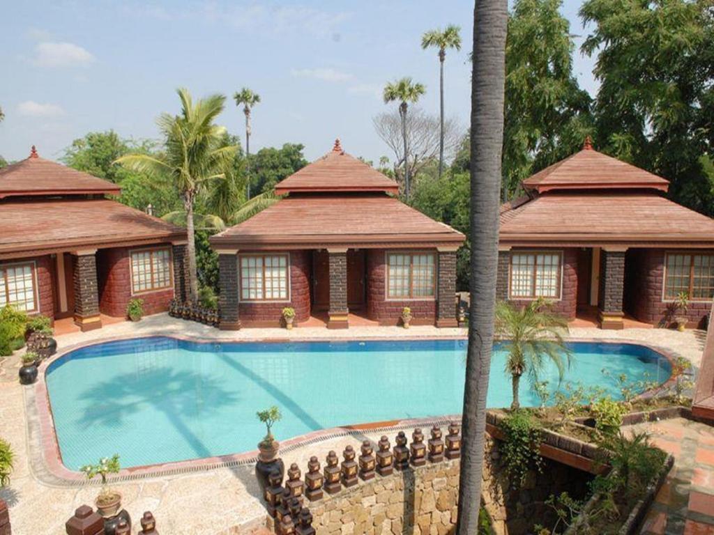 The swimming pool at or near Bagan Princess Hotel