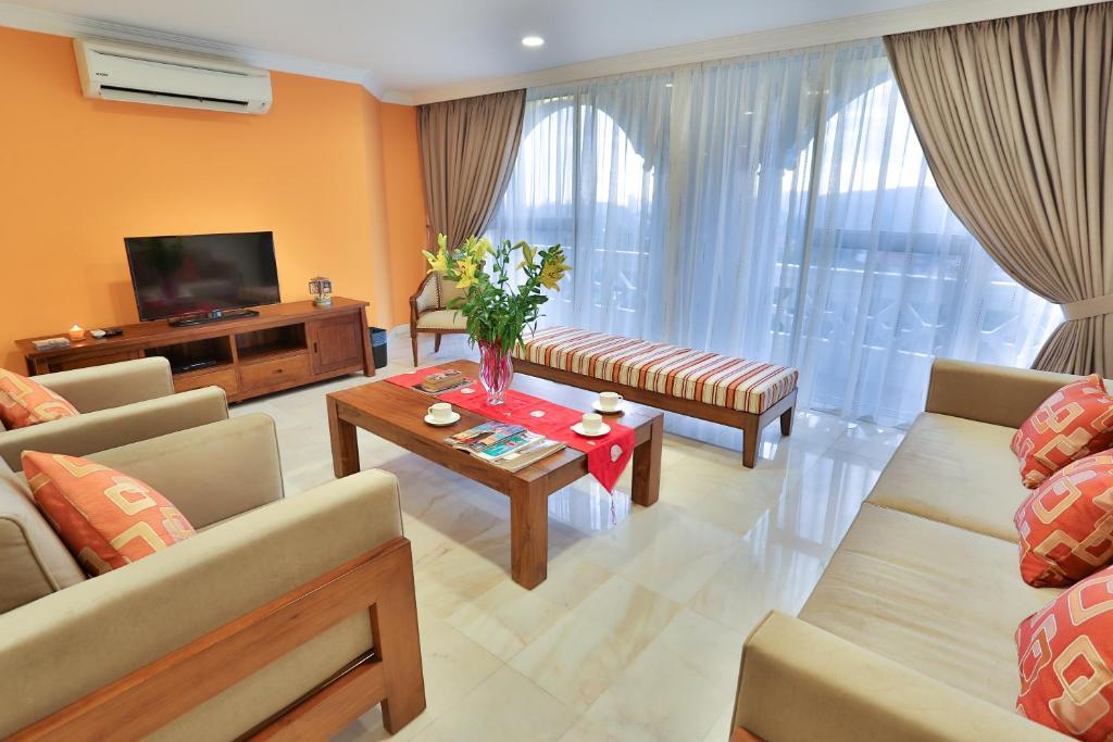 A seating area at Kapitan Hill @ Cempenai Parc Residences