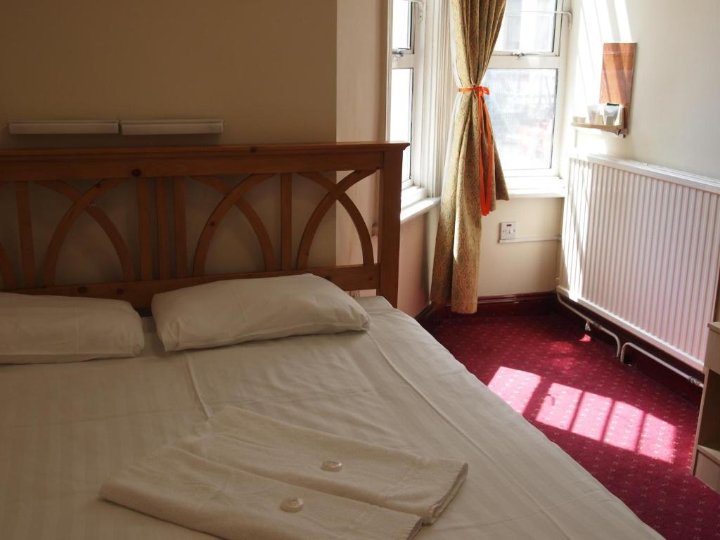 A room at the Hotel Olympia.