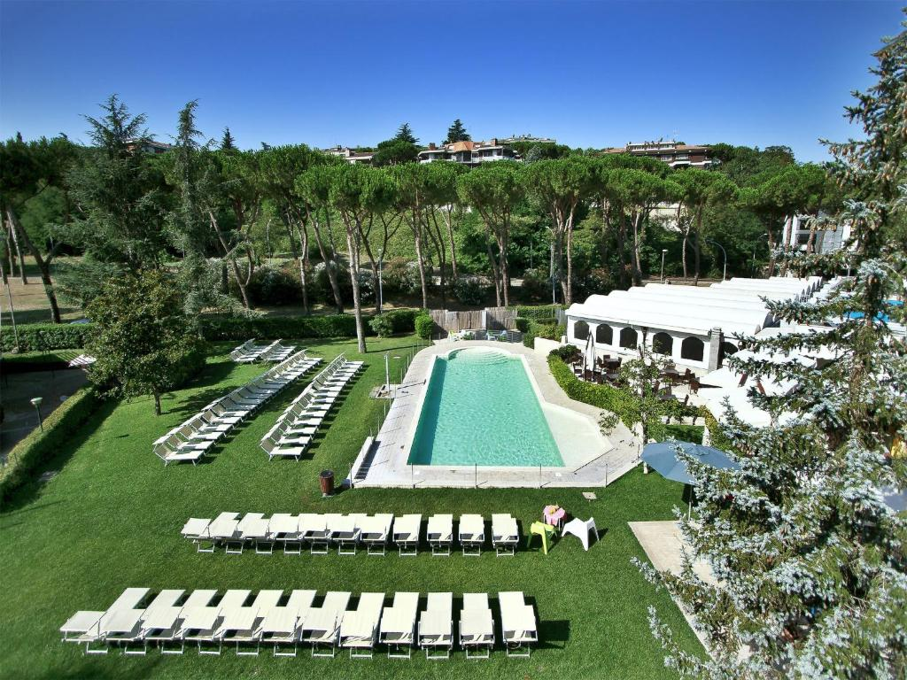 A view of the pool at All Time Relais & Sport Hotel or nearby