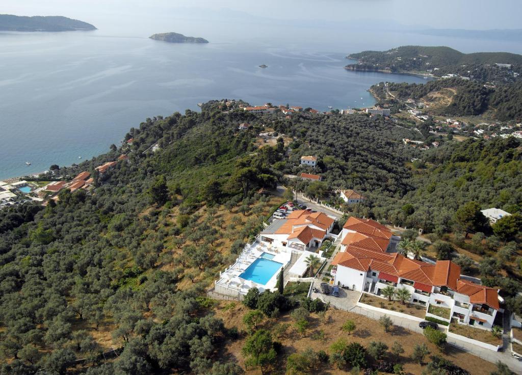 A bird's-eye view of Skiathos Club Hotel & Suites