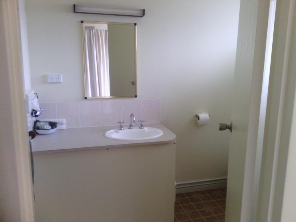 A bathroom at Snowy River Lodge Motel