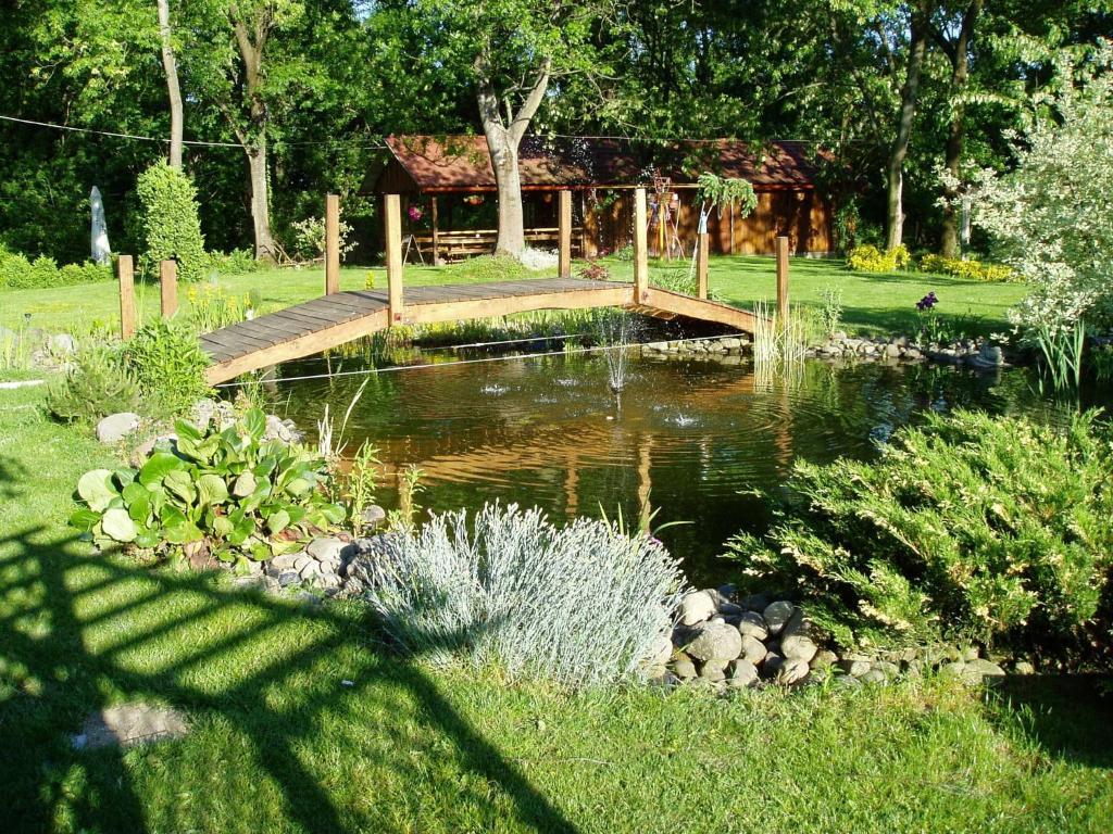 Vonkajšia záhrada v ubytovaní Ranč Nová Zem
