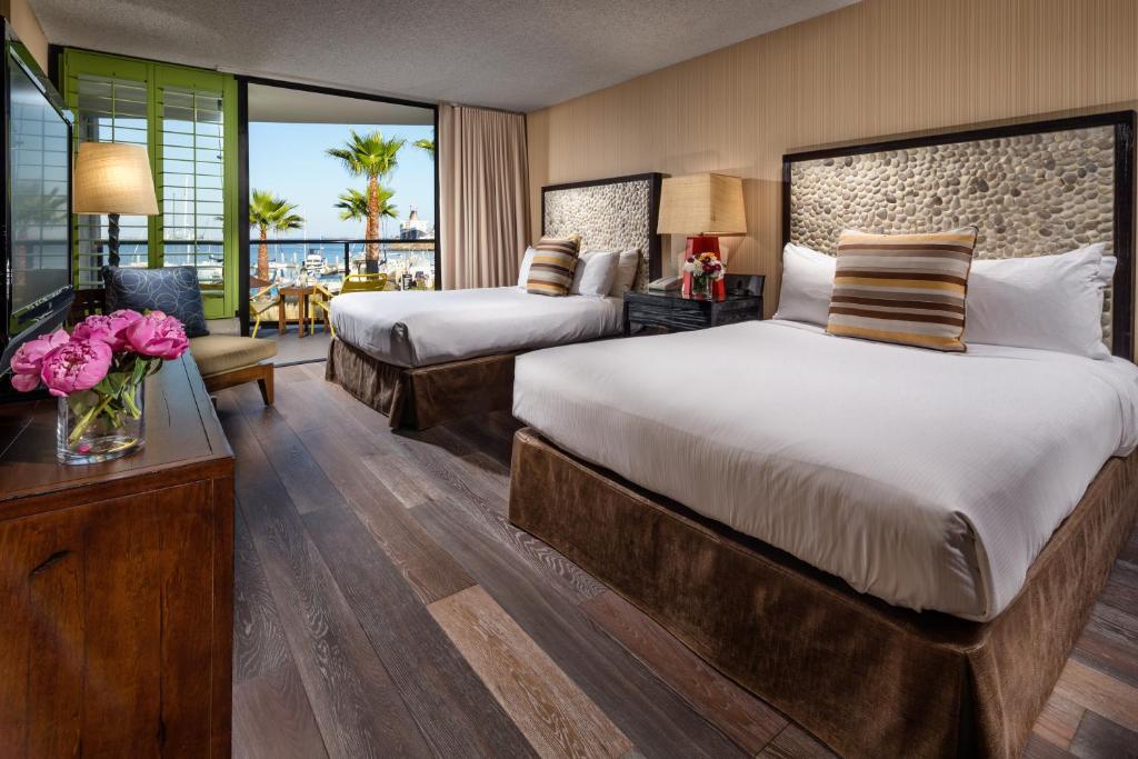 A room at the Hotel Maya.
