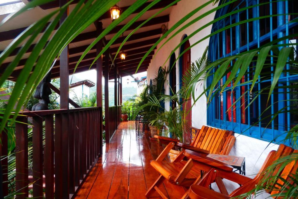 A balcony or terrace at Orosi Lodge