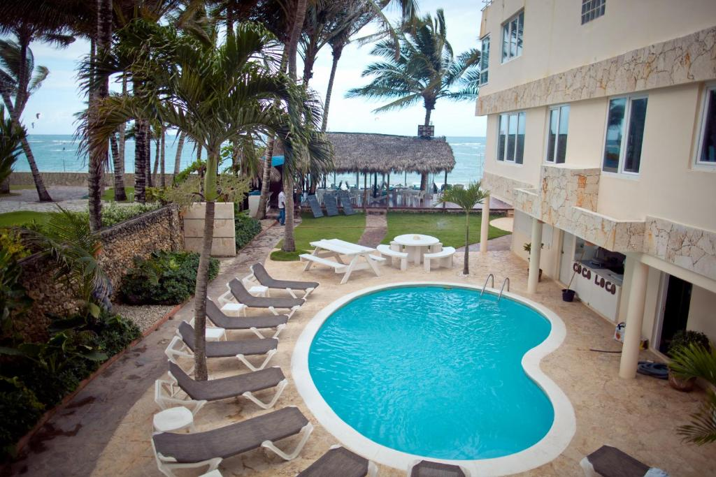 A view of the pool at Kite Beach Inn or nearby