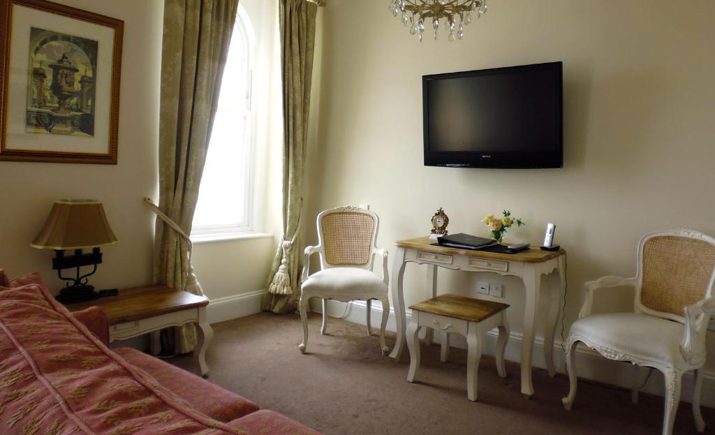 A television and/or entertainment centre at The Town House