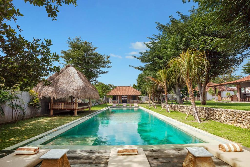 The swimming pool at or near Villa Dedaren Bingin Beach