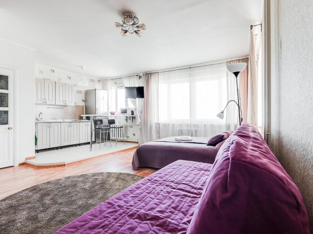 Гостиная зона в ROTAS On Moskovsky 224 Floor 9