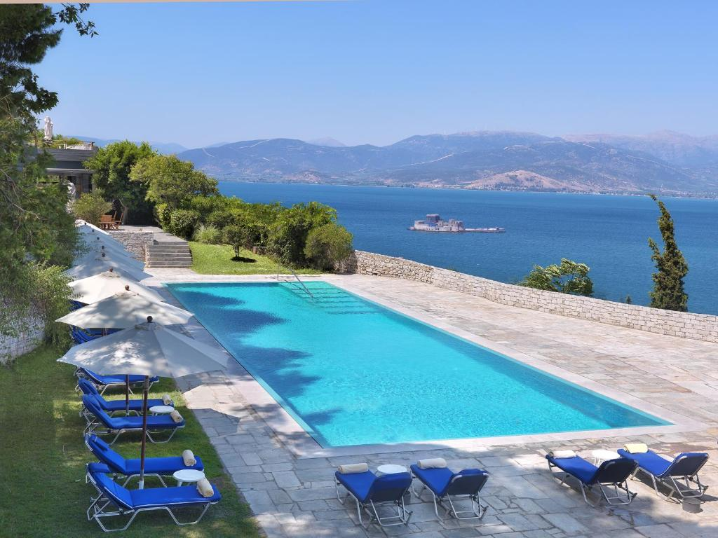 A view of the pool at Nafplia Palace Hotel & Villas or nearby