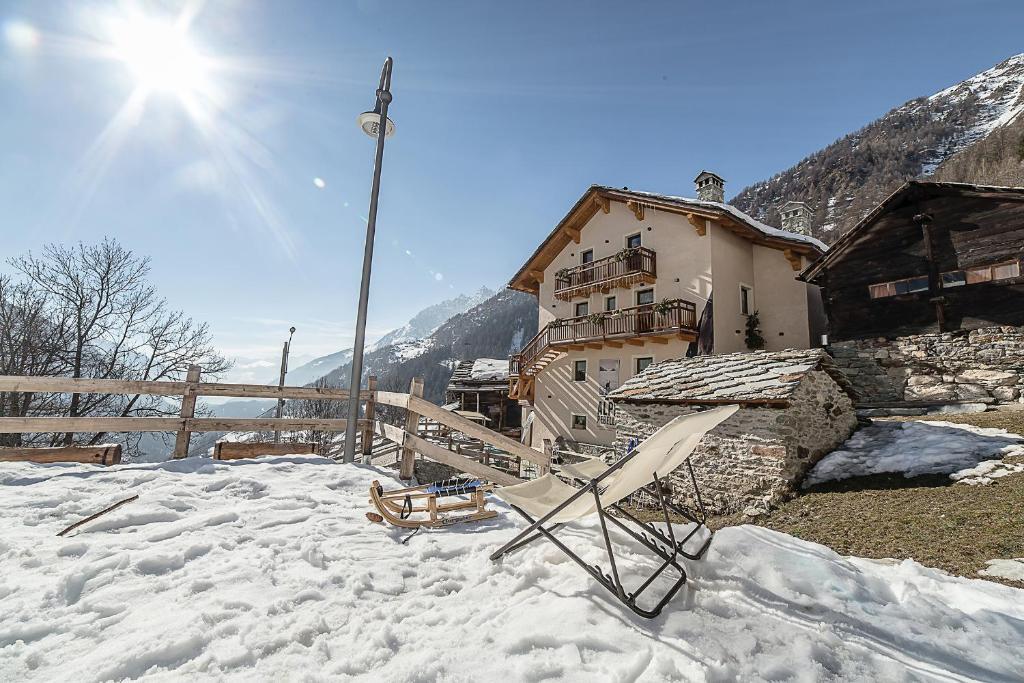 Alpe Rebelle durante l'inverno