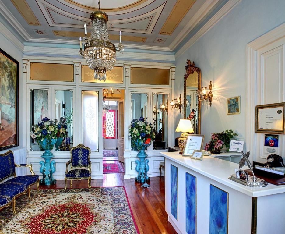 El vestíbulo o zona de recepción de Villa La Argentina
