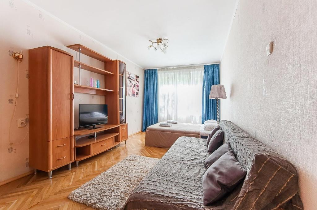 A television and/or entertainment center at Apartment in Yugo-Zapadnaya