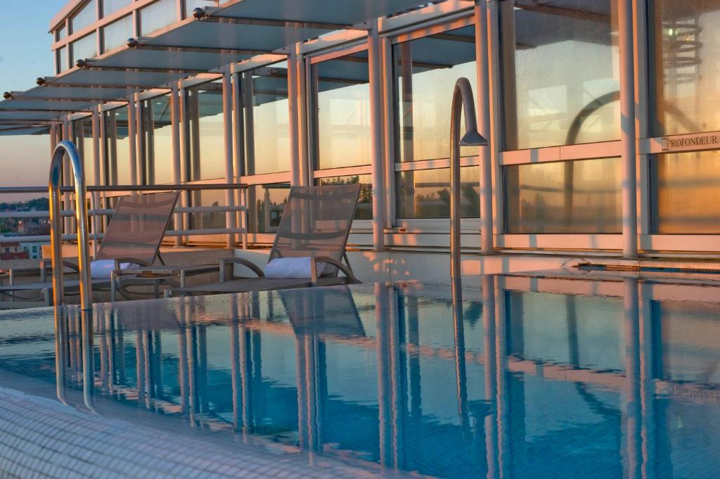 The swimming pool at or near Vichy Celestins Spa Hotel