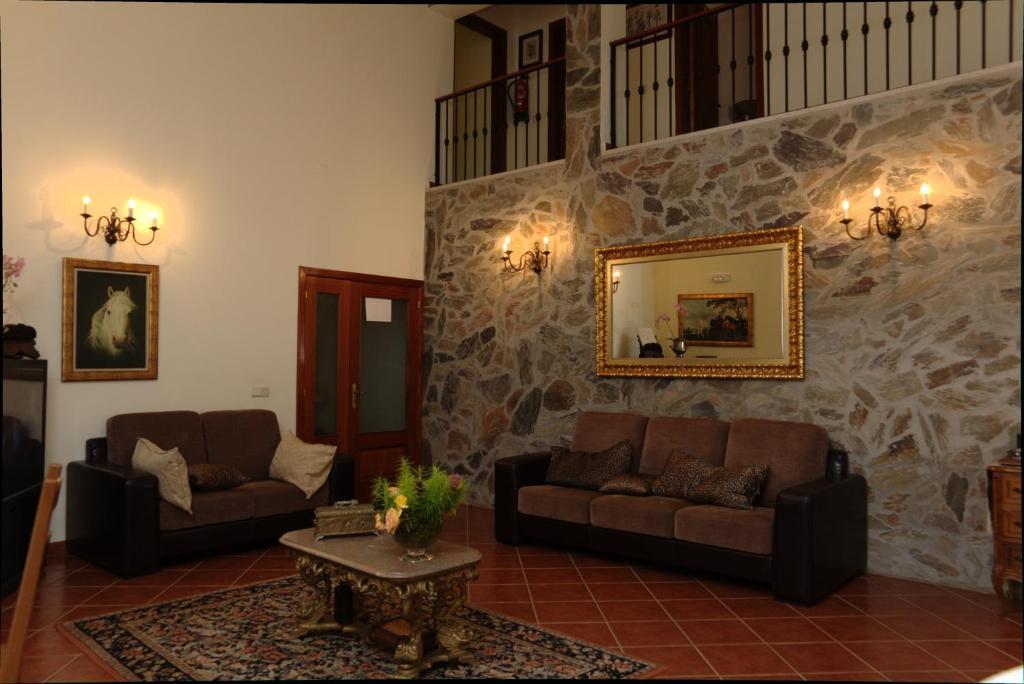 A seating area at Casa Das Aguas Ferreas