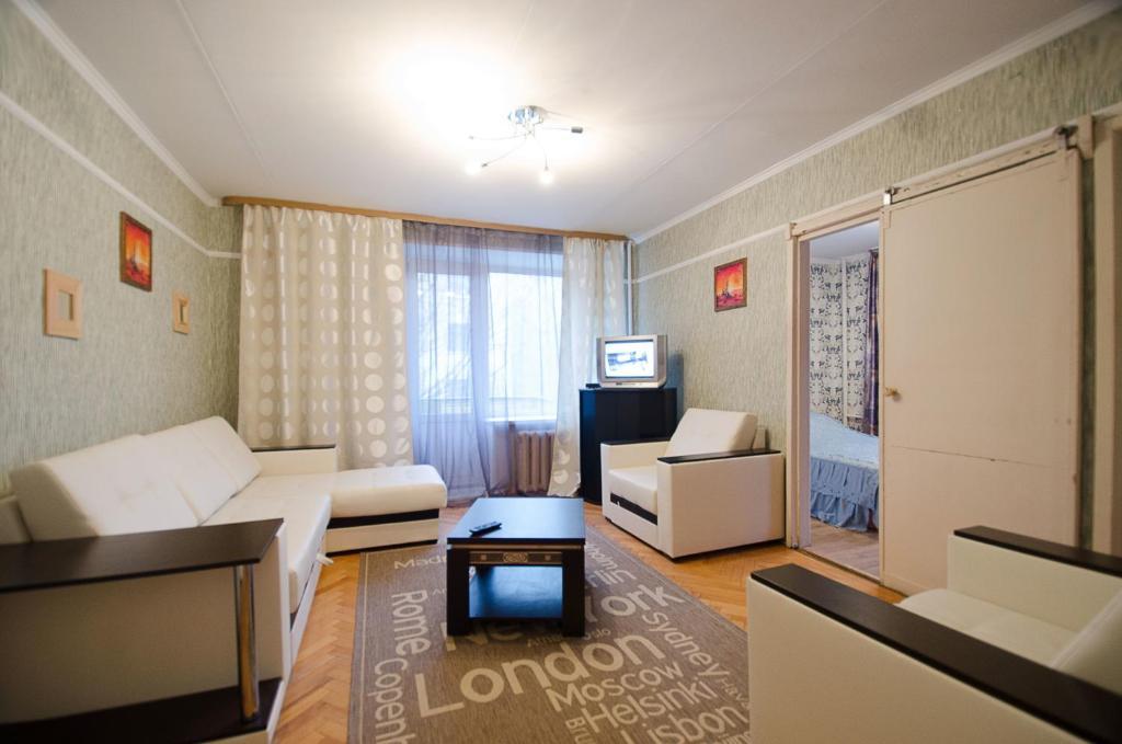Гостиная зона в Nice Flats Белорусская