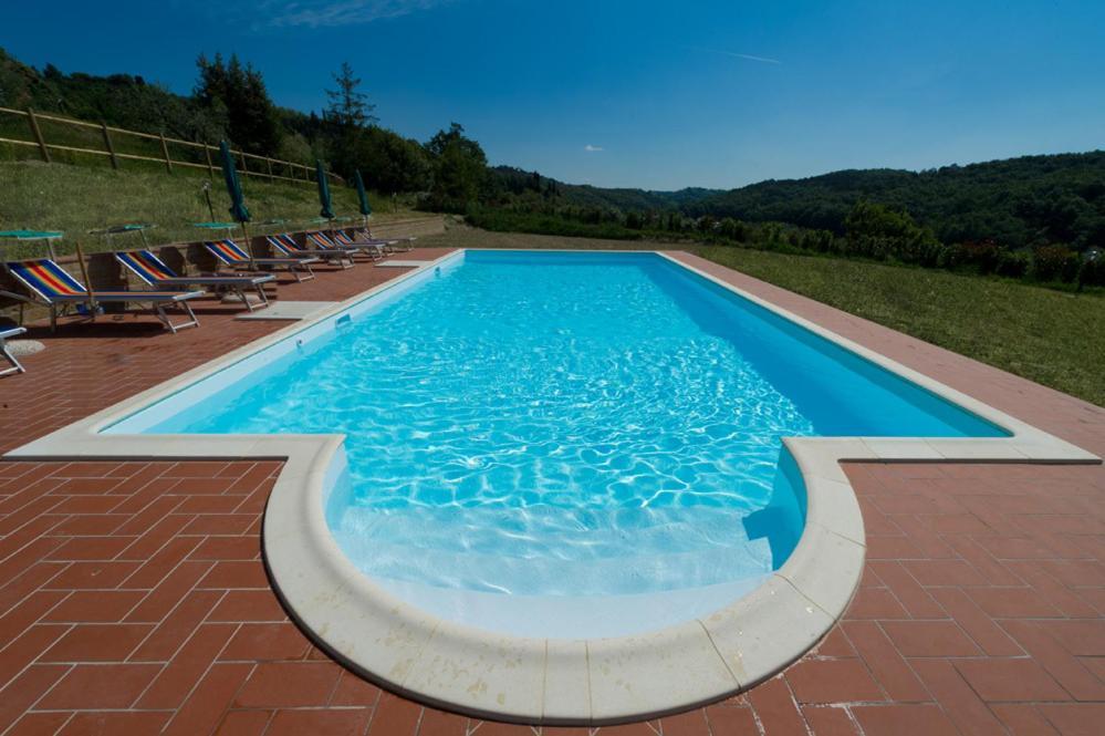 The swimming pool at or near Podere Chiaromonte