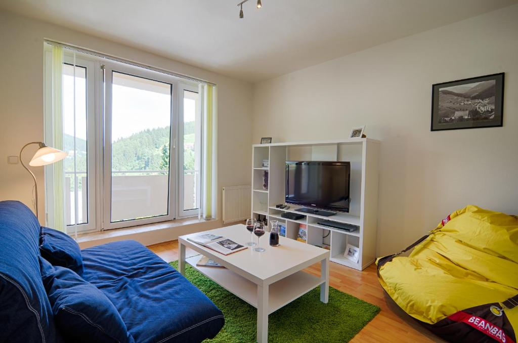 A seating area at Apartment Marketa
